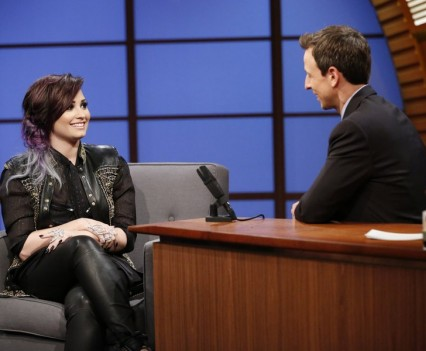 NBC Image - Demi Lovato on Seth Meyers