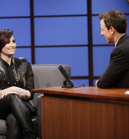 NBC Image - Demi Lovato on Seth Meyers