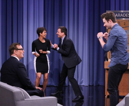 Halle Berry & Chris Colfer - Tonight Show - NBC
