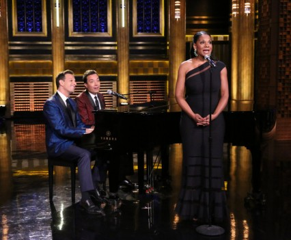 NBC Image - The Tonight Show - Audra McDonald & Josh Charles