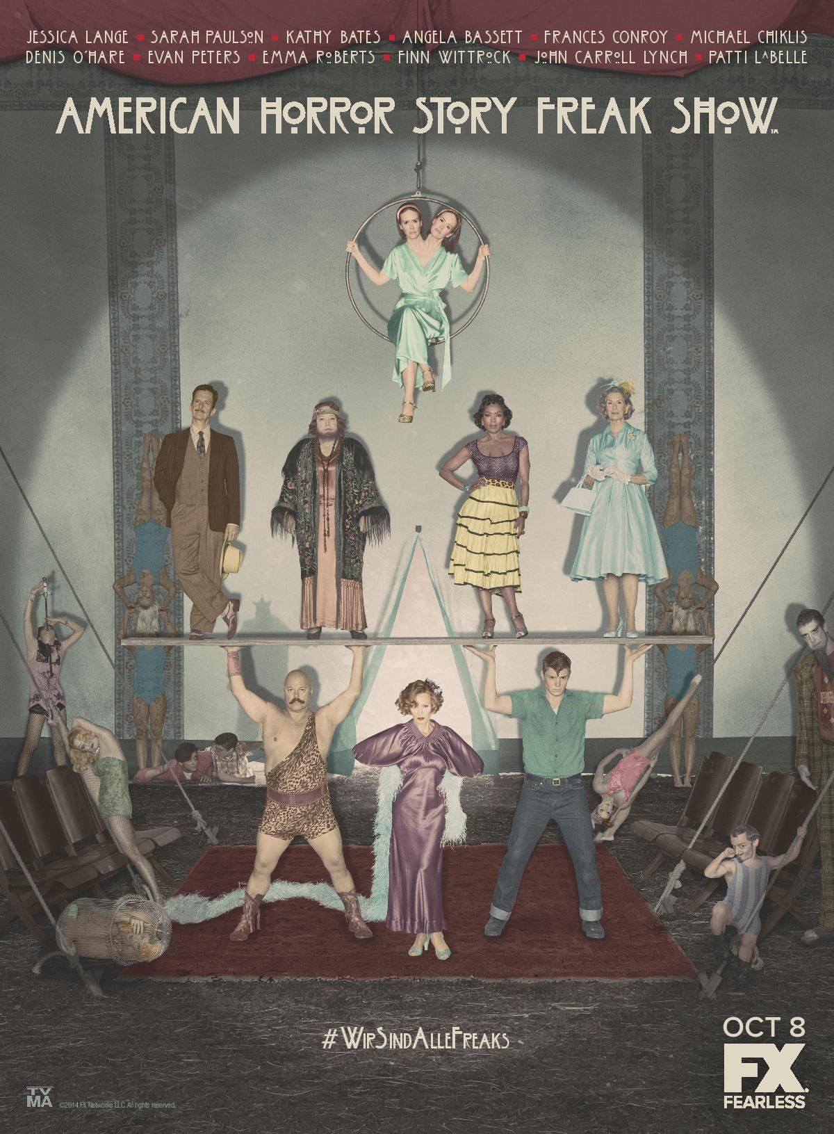 AHS Freak Show Cast Art