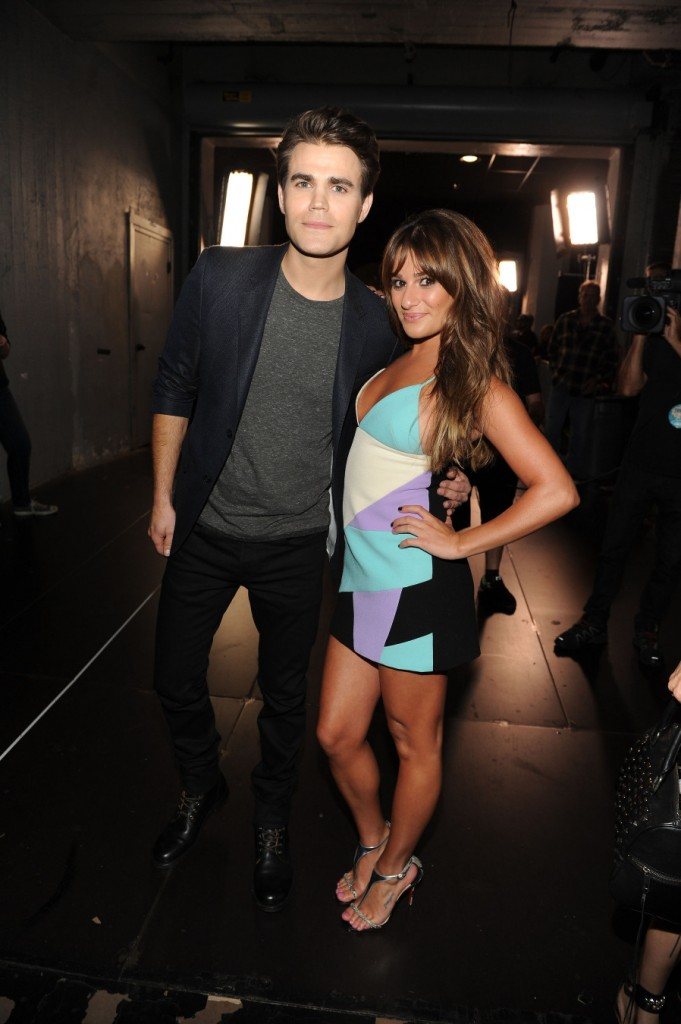 Lea Michele with Paul Wesley at the TCAs