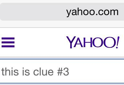 "Yahoo! It's Taylor Swift's latest ""clue"""