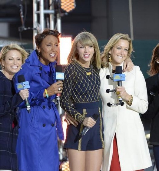 AMY ROBACH, ROBIN ROBERTS, TAYLOR SWIFT, LARA SPENCER, GINGER ZEE