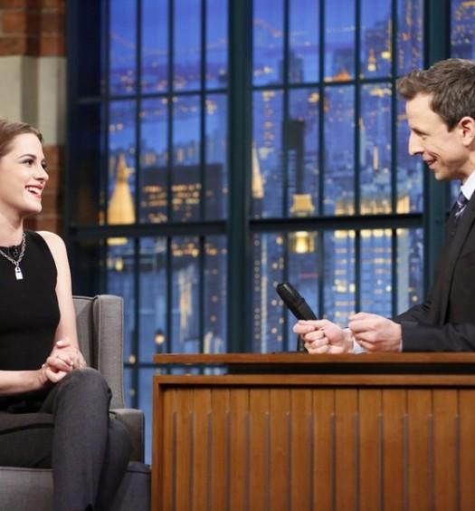 Kristen Stewart - Late Night (NBC)