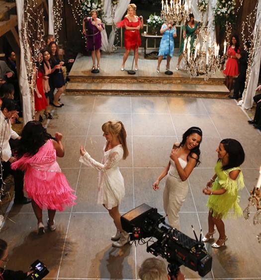 Glee BTS (FOX Image)