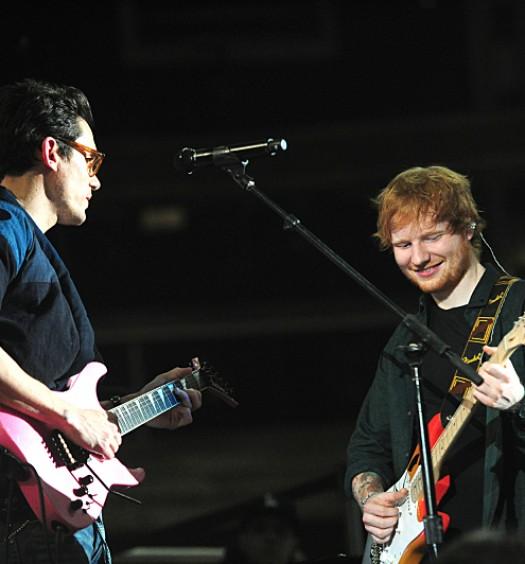 John Mayer, Ed Sheeran (CBS Image)
