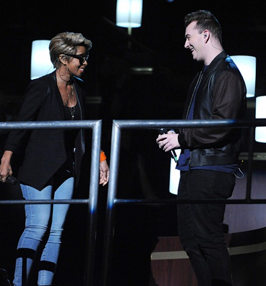 Sam Smith & Mary J Blige (CBS Image)