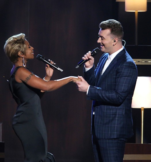 Sam Smith Mary J Grammys