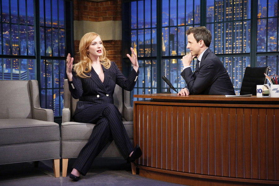 Christina Hendricks on seth meyers