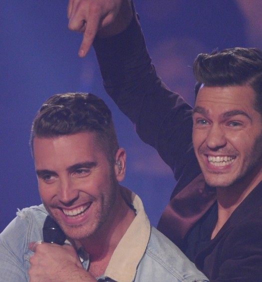 Nick Fradiani Andy Grammer {Cr: FOX}