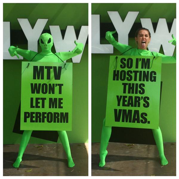Miley Cyrus confirms VMA hosting gig