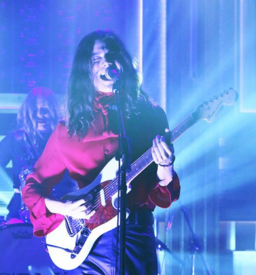 THE TONIGHT SHOW STARRING JIMMY FALLON -- Episode 0352 -- Pictured: Musical guest BØRNS performs on October 16, 2015 -- (Photo by: Douglas Gorenstein/NBC)
