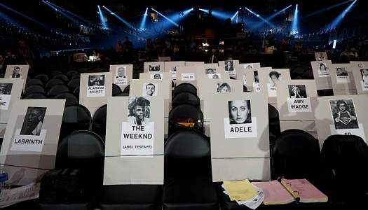 Grammys Seat Cards Revealed For Adele, Weeknd, Rihanna, Ed Sheeran, Drake, Tori Kelly