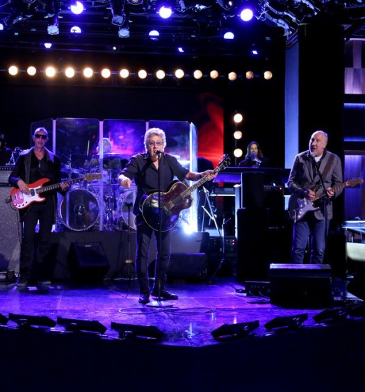 THE TONIGHT SHOW STARRING JIMMY FALLON -- Episode 0431 -- Pictured: (l-r) Simon Townshend, Pino Palladino, Zak Starkey, Roger Daltrey, Loren Gold, and Pete Townshend of musical guest The Who perform on March 4, 2016 -- (Photo by: Andrew Lipovsky/NBC)
