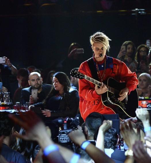 Justin Bieber [IHeartAwards | Photo via iHeartRadio/Turner Networks Press]