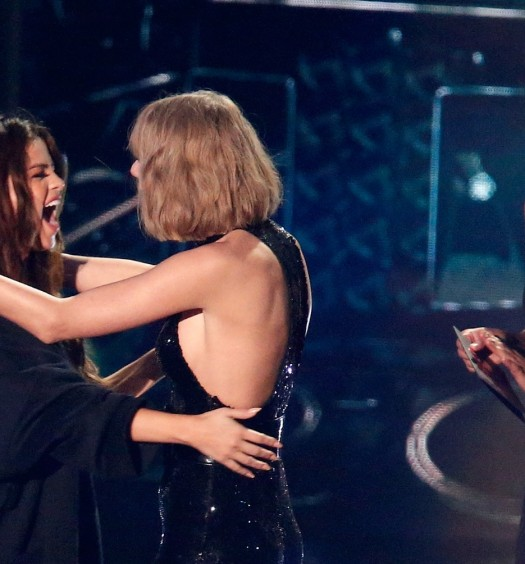 Selena Gomez Taylor Swift [Photo via iHeartMedia/Turner Press]