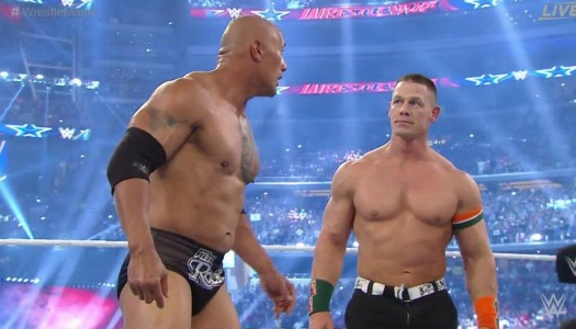 The Rock Dominates Erick Rowan at WWE WrestleMania 32; John Cena Returns