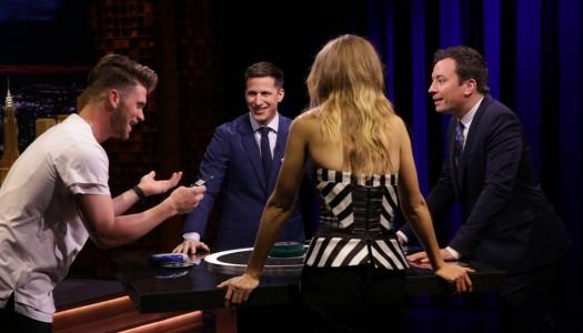 "Andy Samberg, Gigi Hadid, Bryce Harper Play Catchphrase On Fallon's ""Tonight Show"" (Watch)"