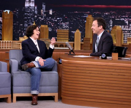 THE TONIGHT SHOW STARRING JIMMY FALLON -- Episode 0464 -- Pictured: (l-r) Author Fran Lebowitz during an interview with host Jimmy Fallon on May 4, 2016 -- (Photo by: Andrew Lipovsky/NBC)