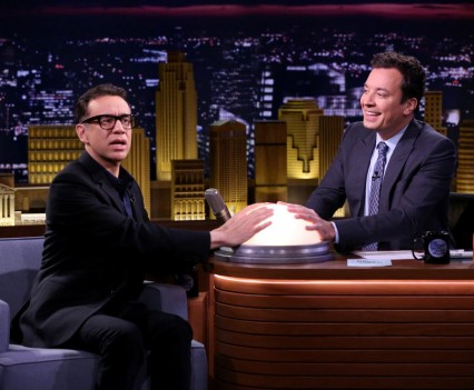 THE TONIGHT SHOW STARRING JIMMY FALLON -- Episode 0475 -- Pictured: (l-r) Actor Fred Armisen during an interview with host Jimmy Fallon on May 19, 2016 -- (Photo by: Andrew Lipovsky/NBC)