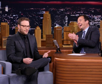 THE TONIGHT SHOW STARRING JIMMY FALLON -- Episode 0475 -- Pictured: (l-r) Actor Seth Rogen during an interview with host Jimmy Fallon on May 19, 2016 -- (Photo by: Andrew Lipovsky/NBC)