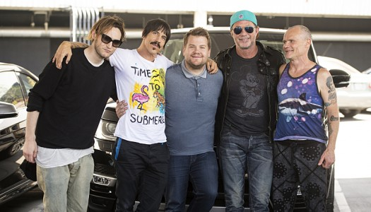 """First Look: Red Hot Chili Peppers Appear In Corden's """"Carpool Karaoke"""" Sketch"""