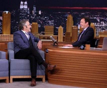 THE TONIGHT SHOW STARRING JIMMY FALLON -- Episode 0509 -- Pictured: (l-r) Golfer David Feherty during an interview with host Jimmy Fallon on July 27, 2016 -- (Photo by: Andrew Lipovsky/NBC)
