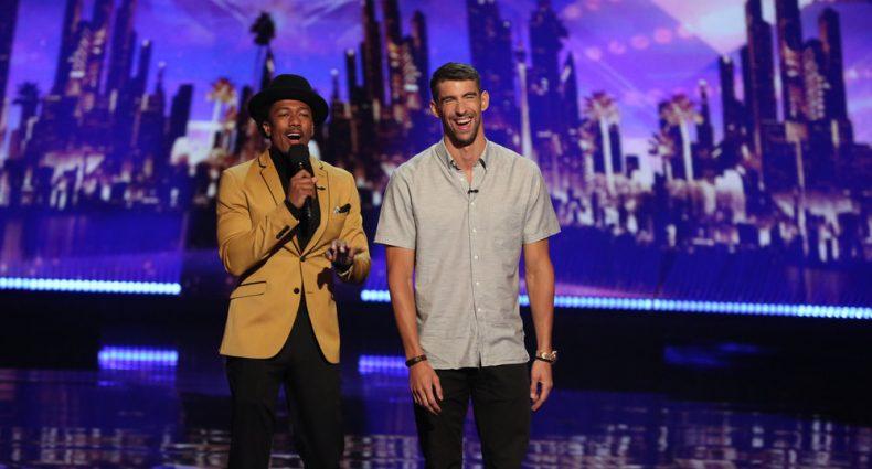 Nick Cannon Michael Phelps [AGT | Photo via NBC]