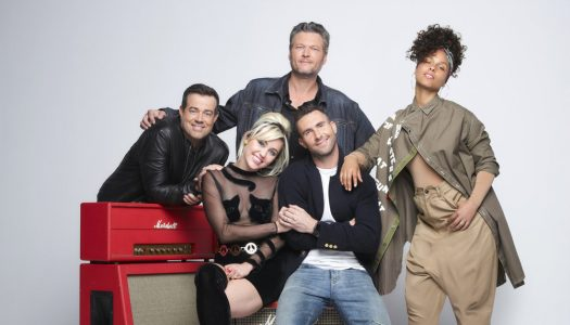 "Miley, Alicia, Adam, Blake, Carson Featured In New ""The Voice"" Photoshoot"