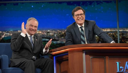 """First Look: Tim Kaine Appears, Car Seat Headrest Performs On """"Late Show With Stephen Colbert"""""""