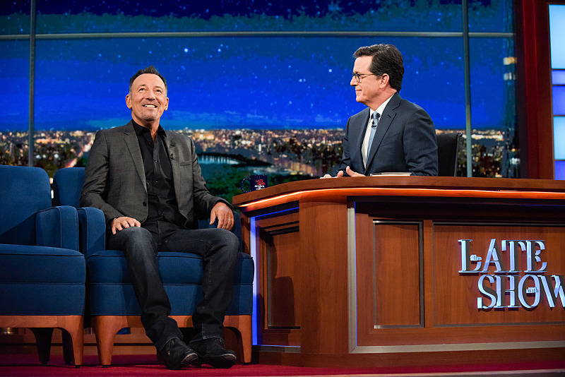 Colbert Interviews Springsteen on the Late Show