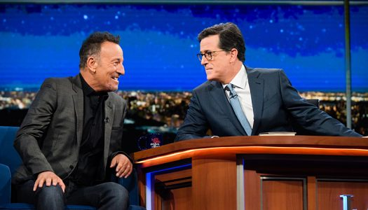"""Bruce Springsteen Appears On """"The Late Show With Stephen Colbert"""" (Watch Now)"""
