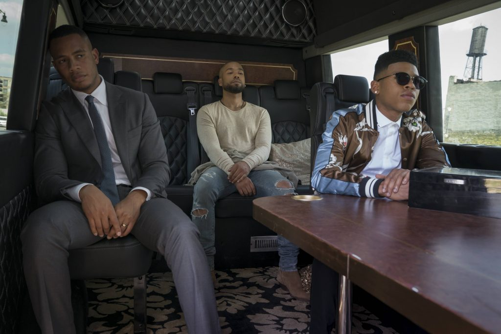 """EMPIRE: Pictured L-R: Trai Byers, Jussie Smollett and Bryshere Gray in the """"What Remains is Bestial"""" episode of EMPIRE airing Wednesday, Oct. 5 (9:00-10:00 PM ET/PT) on FOX. ©2016 Fox Broadcasting Co. CR: Chuck Hodes/FOX"""