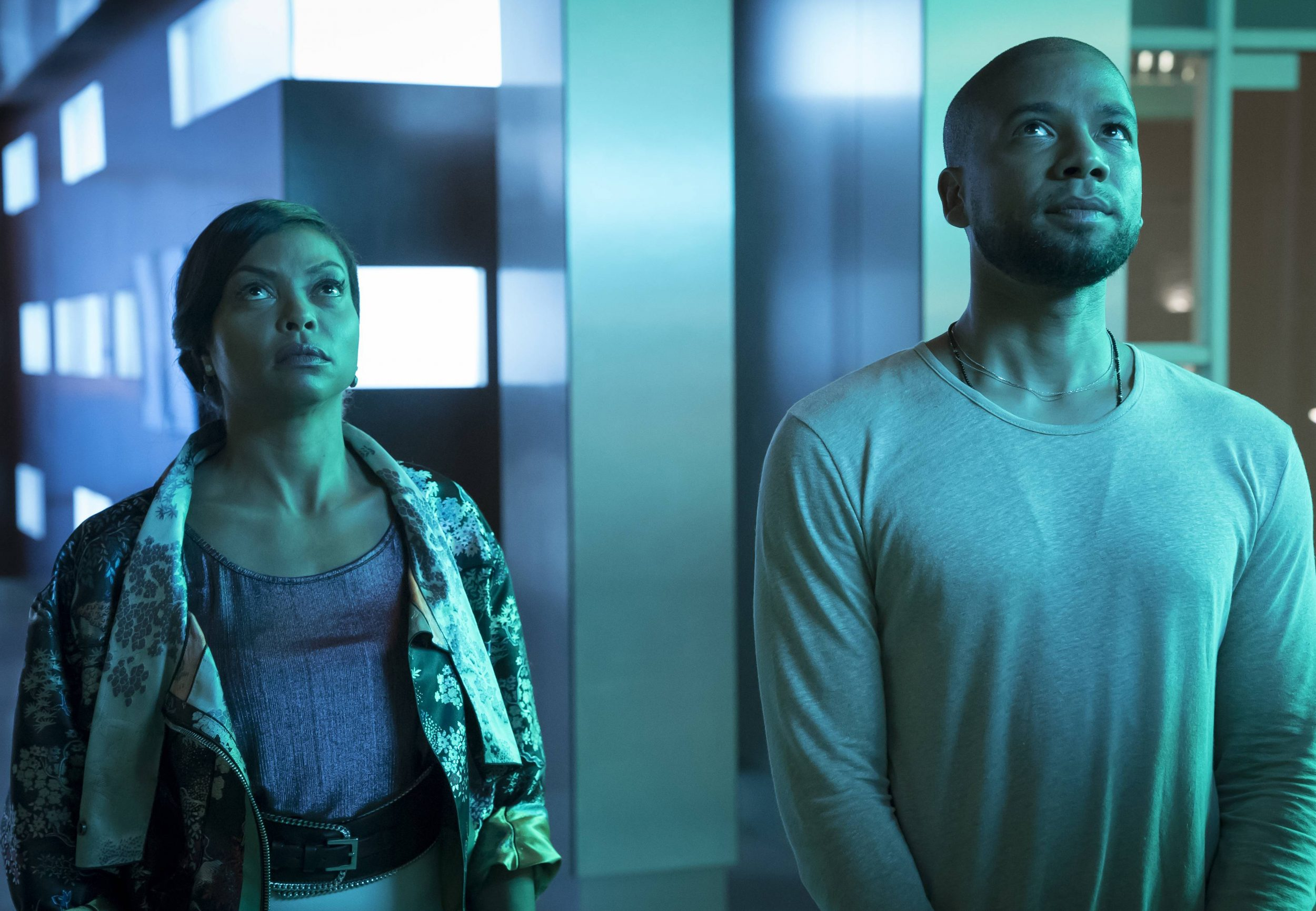 """EMPIRE: Pictured L-R: Taraji P. Henson and Jussie Smollett in the """"What Remains is Bestial"""" episode of EMPIRE airing Wednesday, Oct. 5 (9:00-10:00 PM ET/PT) on FOX. ©2016 Fox Broadcasting Co. CR: Chuck Hodes/FOX"""