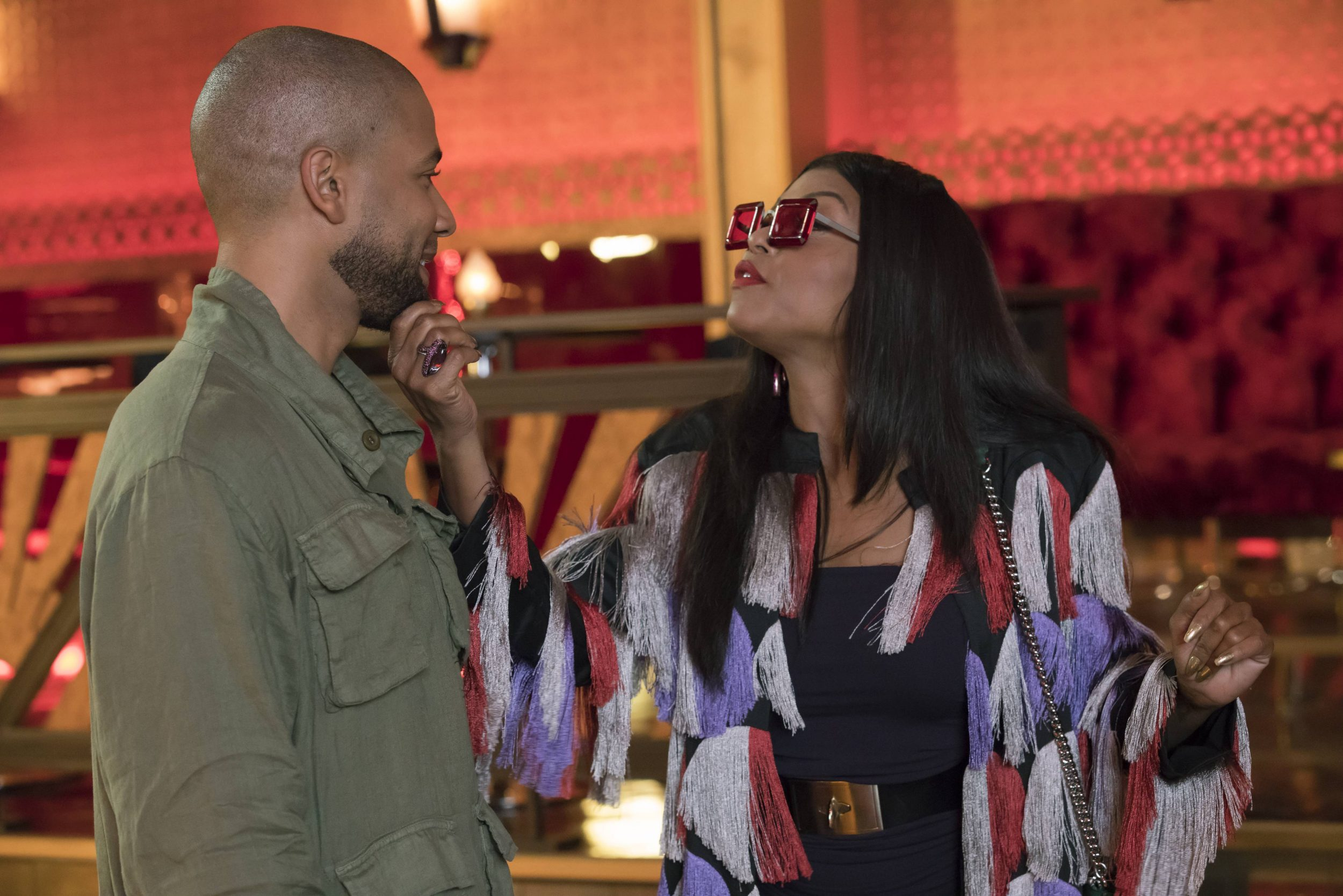 """EMPIRE: Pictured L-R: Jussie Smollett and Taraji P. Henson in the """"What Remains is Bestial"""" episode of EMPIRE airing Wednesday, Oct. 5 (9:00-10:00 PM ET/PT) on FOX. ©2016 Fox Broadcasting Co. CR: Chuck Hodes/FOX"""