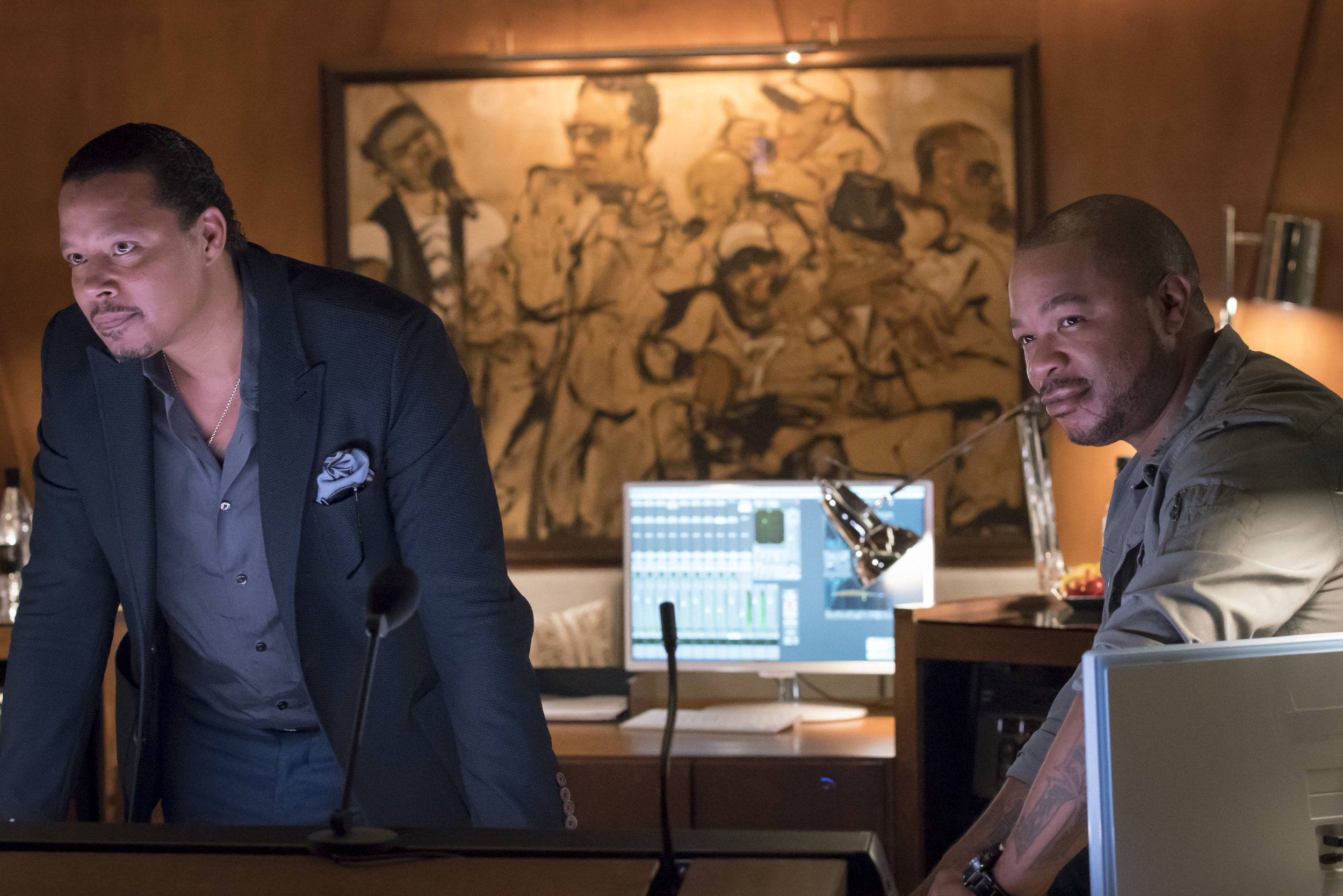 """EMPIRE: Pictured L-R: Terrence Howard and Xzibit in the """"What Remains is Bestial"""" episode of EMPIRE airing Wednesday, Oct. 5 (9:00-10:00 PM ET/PT) on FOX. ©2016 Fox Broadcasting Co. CR: Chuck Hodes/FOX"""