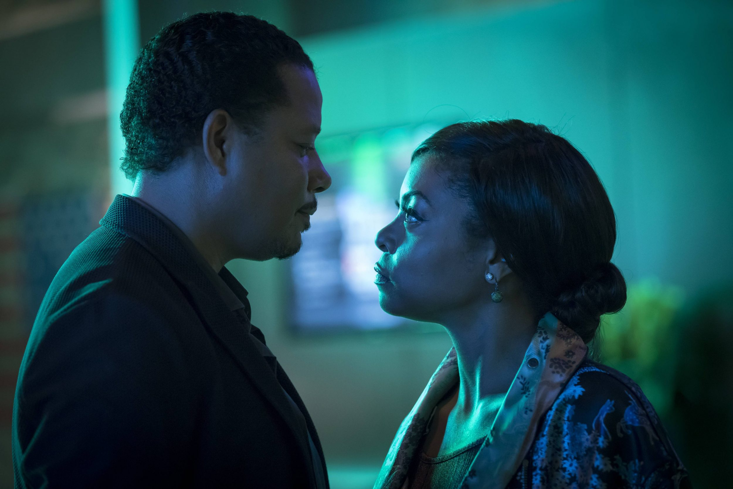 """EMPIRE: Pictured L-R: Terrence Howard and Taraji P. Henson in the """"What Remains is Bestial"""" episode of EMPIRE airing Wednesday, Oct. 5 (9:00-10:00 PM ET/PT) on FOX. ©2016 Fox Broadcasting Co. CR: Chuck Hodes/FOX"""