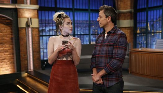 "Miley Cyrus Becomes Forced Friends With Seth Meyers on ""Late Night"" (Watch NOw)"