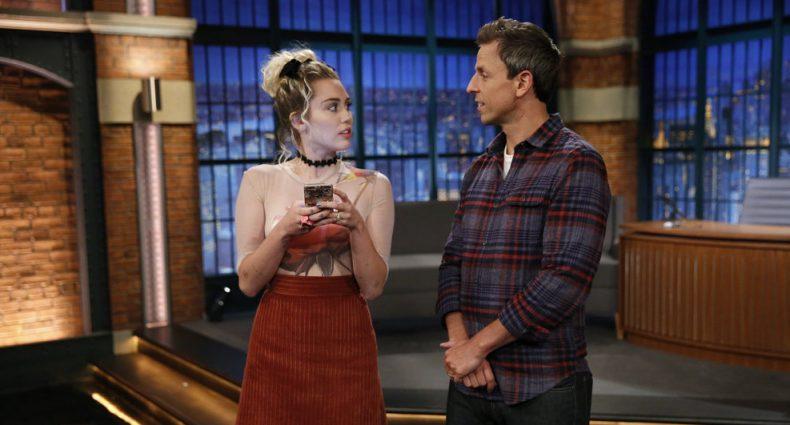 Miley Cyrus Seth Meyers [NBC]