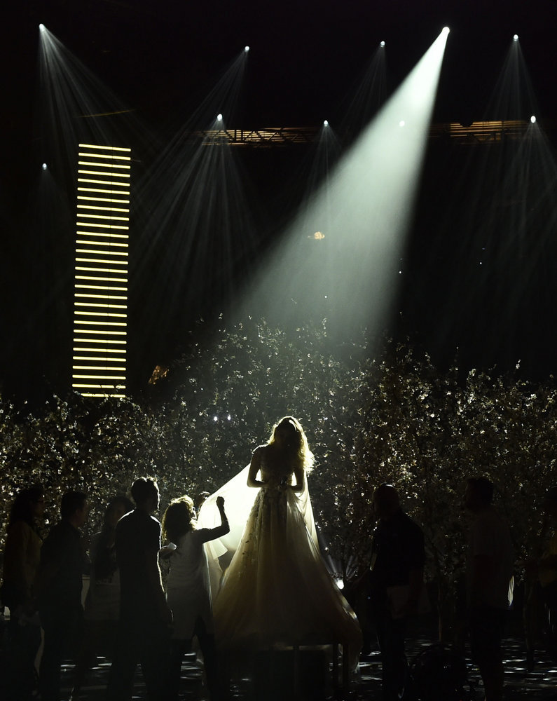 "2016 LATIN AMERICAN MUSIC AWARDS -- ""Rehearsal"" -- Pictured: Singer Sofia Reyes rehearses for the 2016 Latin American Music Awards at the Dolby Theater in Los Angeles, CA on October 3, 2016 -- (Photo by: Alberto Rodriguez/Telemundo)"