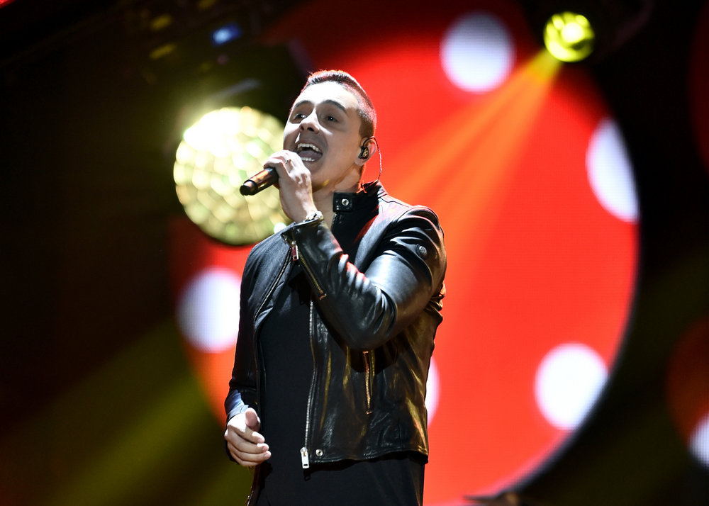 """2016 LATIN AMERICAN MUSIC AWARDS -- """"Rehearsal"""" -- Pictured: Recording artist Joey Montana rehearses for the 2016 Latin American Music Awards at the Dolby Theater in Los Angeles, CA on October 4, 2016 -- (Photo by: Alberto Rodriguez/Telemundo)"""