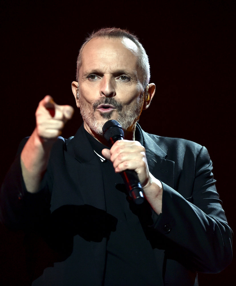 """2016 LATIN AMERICAN MUSIC AWARDS -- """"Rehearsal"""" -- Pictured: Recording artist Miguel Bosé rehearses for the 2016 Latin American Music Awards at the Dolby Theater in Los Angeles, CA on October 4, 2016 -- (Photo by: Alberto Rodriguez/Telemundo)"""