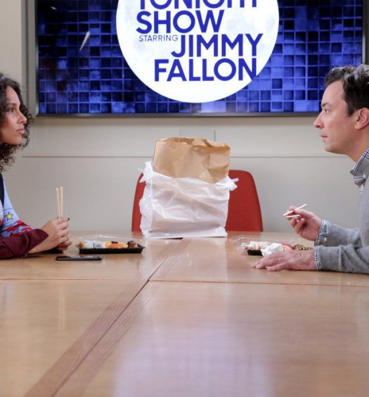 "THE TONIGHT SHOW STARRING JIMMY FALLON -- Episode 0566 -- Pictured: (l-r) Singer Alicia Keys and host Jimmy Fallon during the ""Alicia Keys Staring Contest"" sketch on November 7, 2016 -- (Photo by: Andrew Lipovsky/NBC)"