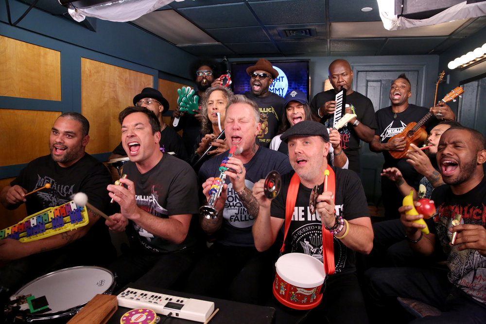 Metallica performs 'Enter Sandman' on toys with Jimmy Fallon
