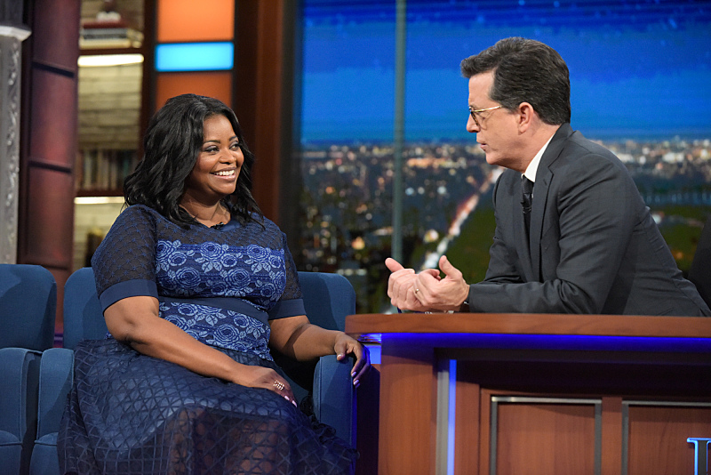 Image result for octavia spencer stephen colbert