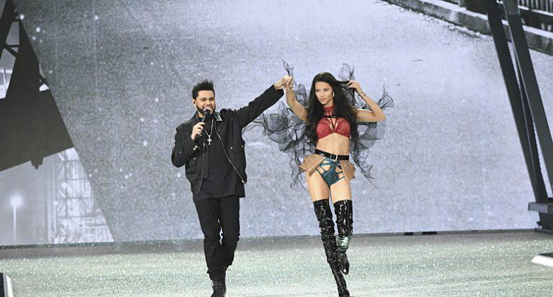 The Weeknd & Adriana at VSFS [CBS]