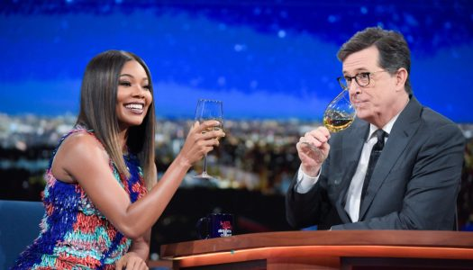"""First Look: Gabrielle Union, Jude Law Appear On """"Late Show With Stephen Colbert"""""""