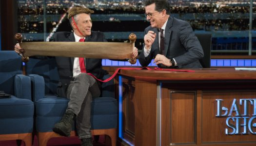"""First Look: Jon Stewart Appears On """"Late Show With Stephen Colbert"""""""