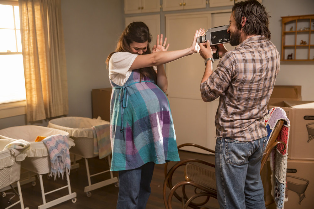 "THIS IS US -- ""The Big Day"" Episode 112 -- Pictured: (l-r) Mandy Moore as Rebecca, Milo Ventimiglia as Jack -- (Photo by: Ron Batzdorff/NBC)"